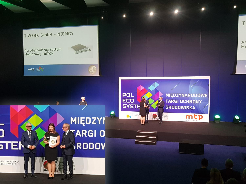 Preisverleihung MTP-Award für T.Werk mit Natalia Morzyc