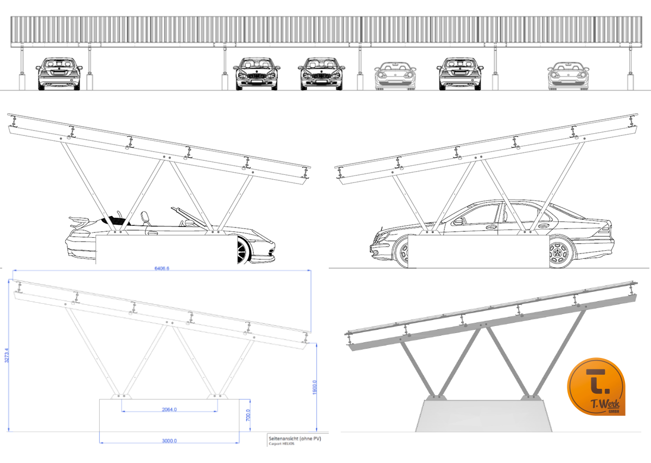 Carport HELIOS - Bild: T.Werk GmbH